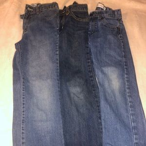 Boys blue jean pants size 8